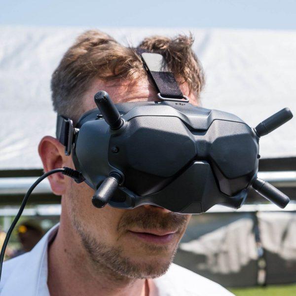 DJI FPV Goggles - on head